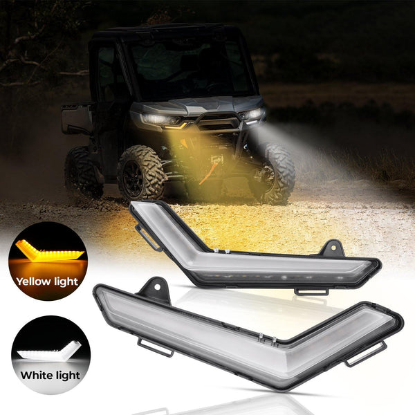 Defender & Defender Max Daytime Running Light With Normal Yellow Turning Signal - Kemimoto