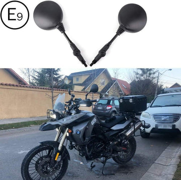 "Universal Motorcycle Mirrors  7/8"" Handle Bar Round Folding Side Mirrors"