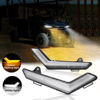 Defender & Defender Max Daytime Running Light with Yellow Water Lighting Effect - Kemimoto