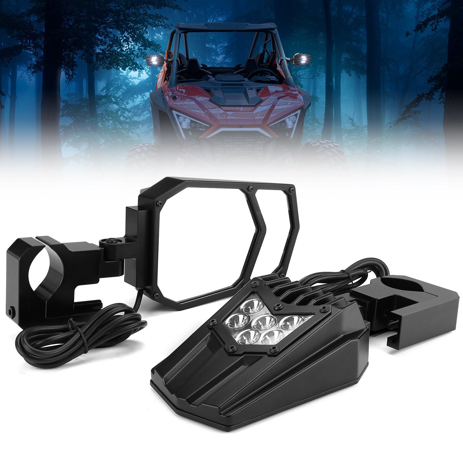 Universal UTV LED Light Mirror (New design) Fits 1.5