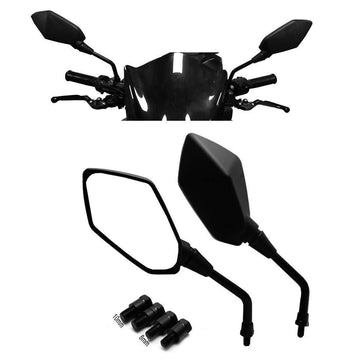 Universal Motorcycle Mirrors M8 M10 Threaded Bolt Double Take Mirrors