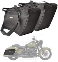 Motorcycle Saddlebag / Travel Tour Pack Bag For Harley Touring Glide Road King - Kemimoto