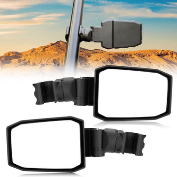 "UTV Adjustable Rear View Side Mirror for 1.75"" to 2"" Roll Bar Cage"