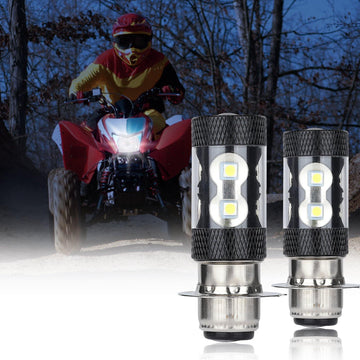 Honda TRX H6m Yamaha 100W LED Head Lamp Bulb 2pcs