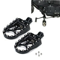 CNC Wide Foot Pegs Foot Rests for Harley - Kemimoto