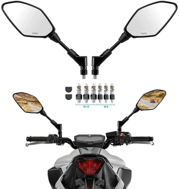 Motorcycle Universal Mirrors Rear View capable with 8MM 10MM