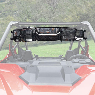 Upgrade Rear Storage Bag Gear bags Roll Cage Cargo for Polaris Ranger RZR, Honda Pioneer Talon (Most Full Size UTVs)