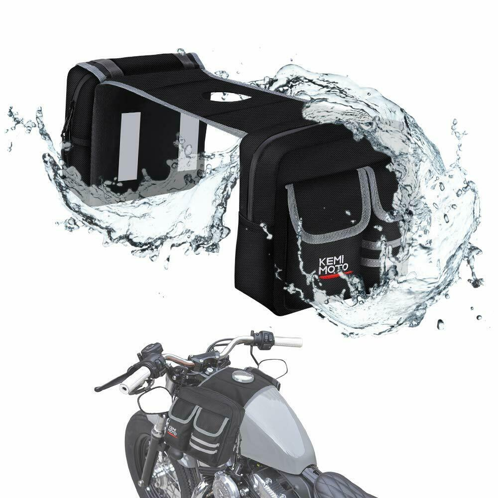 ATV Motorcycles Fuel Tank Bag Saddlebag - Kemimoto