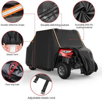 "Waterproof Large 4 Seats UTV Cover (Length 214"") with Reflective Strip Compatible with 2-Row Seating RZR 4 Ranger Crew General 4 Can Am Honda Kawasaki - Kemimoto"