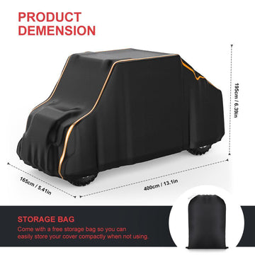 Universal UTV Waterproof 4-Seats 2-Row Seating 420D Heavy Duty Cover