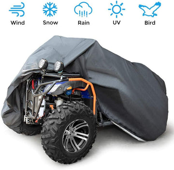 ATV Cover Water-resistant Windproof Cover with Elastic Base Wrap 100'' x 43'' x 47''