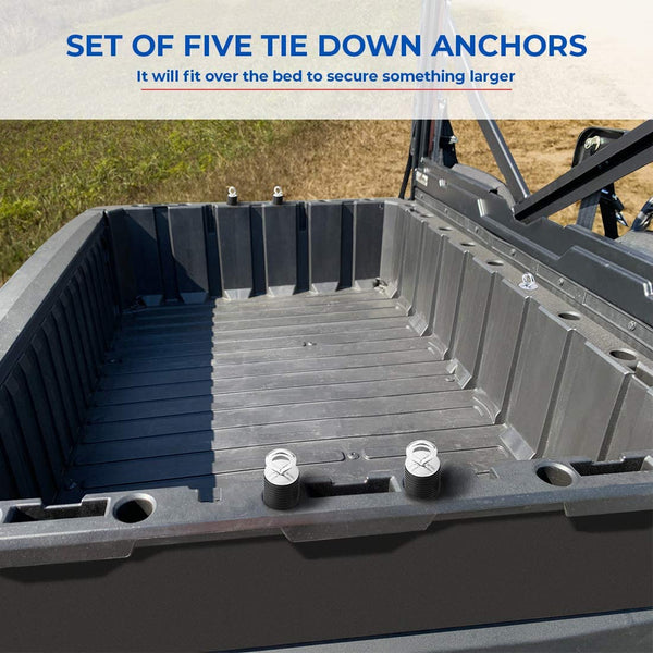 "Polaris Ranger 2020+ /General 2"" Tie Down Anchors, Set of 6 Lock and Ride Type Anchors - Kemimoto"