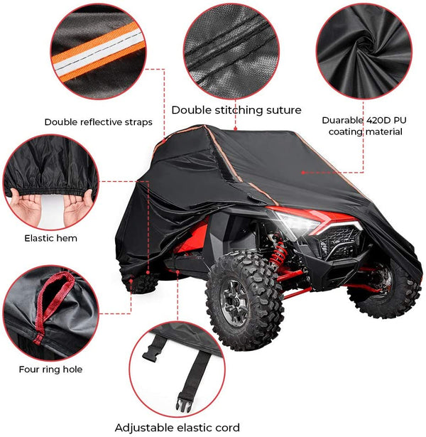 UTV Cover with Rlective Strip for Polaris RZR - Kemimoto