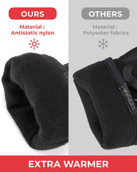 Motorcycle Winter Gloves capable with Touch Screen - KEMIMOTO