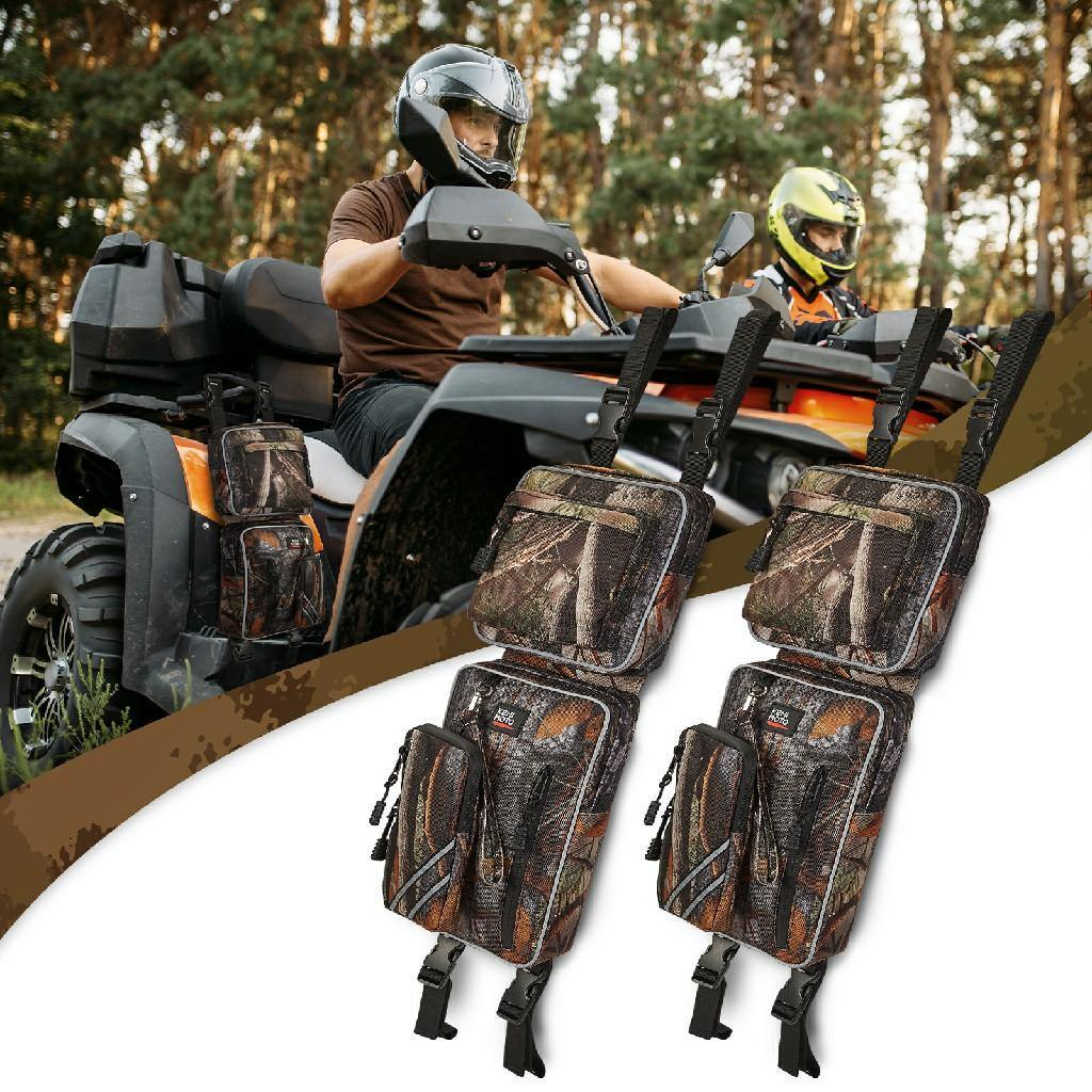 ATV Fender Bag, Rear Storage Bags Compatible with Sportsman Scrambler FourTrax Grizzly - KEMIMOTO