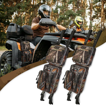 ATV Fender Bag, Rear Storage Bags Compatible with Sportsman Scrambler FourTrax Grizzly
