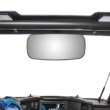 Polaris Ranger 900 XP Center Rearview Mirror with Factory Present Drop Down Mounting Tab Forklift