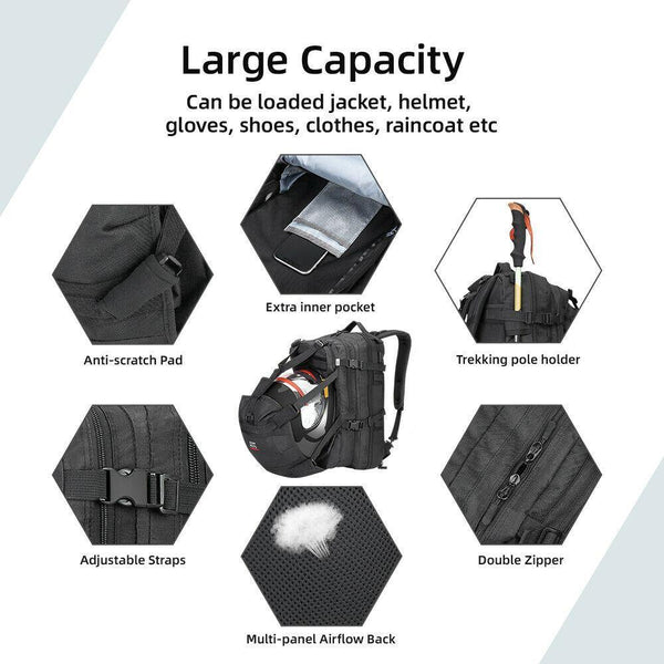 Motorcycle Helmet Storage  Backpack 37L - Kemimoto
