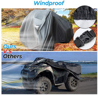 ATV Cover Water-resistant Windproof Cover with Elastic Base Wrap 100'' x 43'' x 47'' - Kemimoto