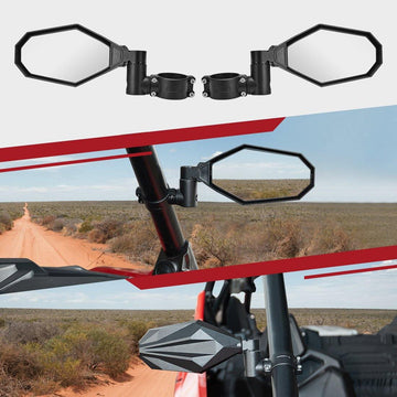 "(New in!) Side View Mirrors with 2"" Clamps For Polaris RZR PRO, Can Am (NOT X3 MODELS)"