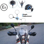 "Universal Motorcycle Mirrors  7/8"" Handle Bar Round Folding Side Mirrors - Kemimoto"