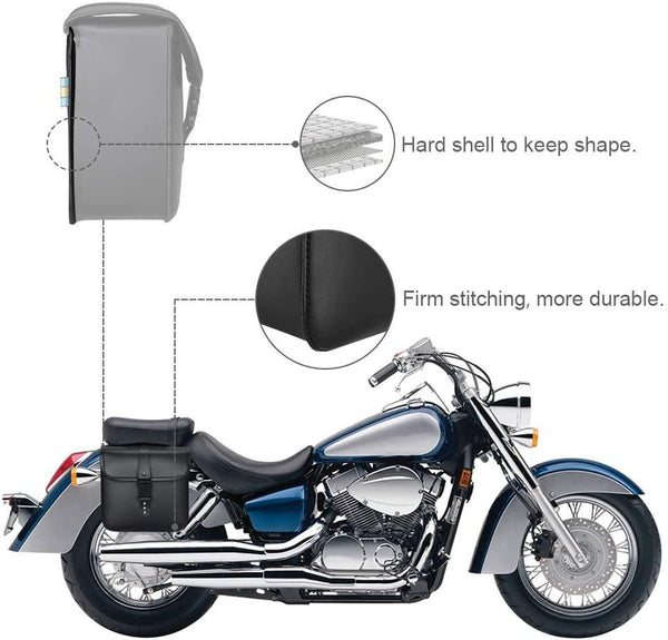 Motorcycle Saddle Bags, 2 Pack Universal - Kemimoto