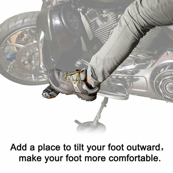 "Universal 1.25"" Highway Footpegs Foot Rest For Touring Honda Suzuki Harley - Kemimoto"