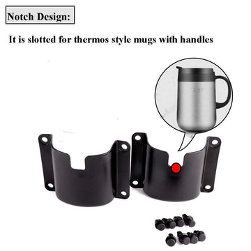 KEMIMOTO 4 pcs Drink Cup Holder Door Mount Bottle Holder for 2014-2019 Honda Pioneer 1000-5 Front and Rear Doors