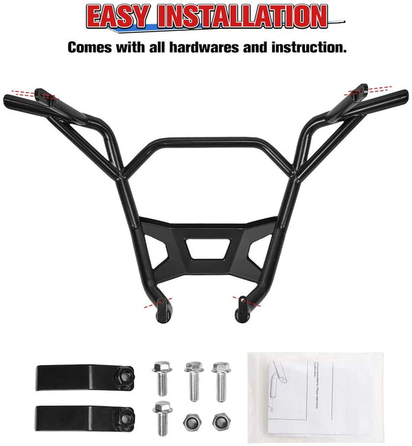 Kemimoto UTV Rear Bumper Compatible with 2020 Polaris RZR PRO XP - Kemimoto