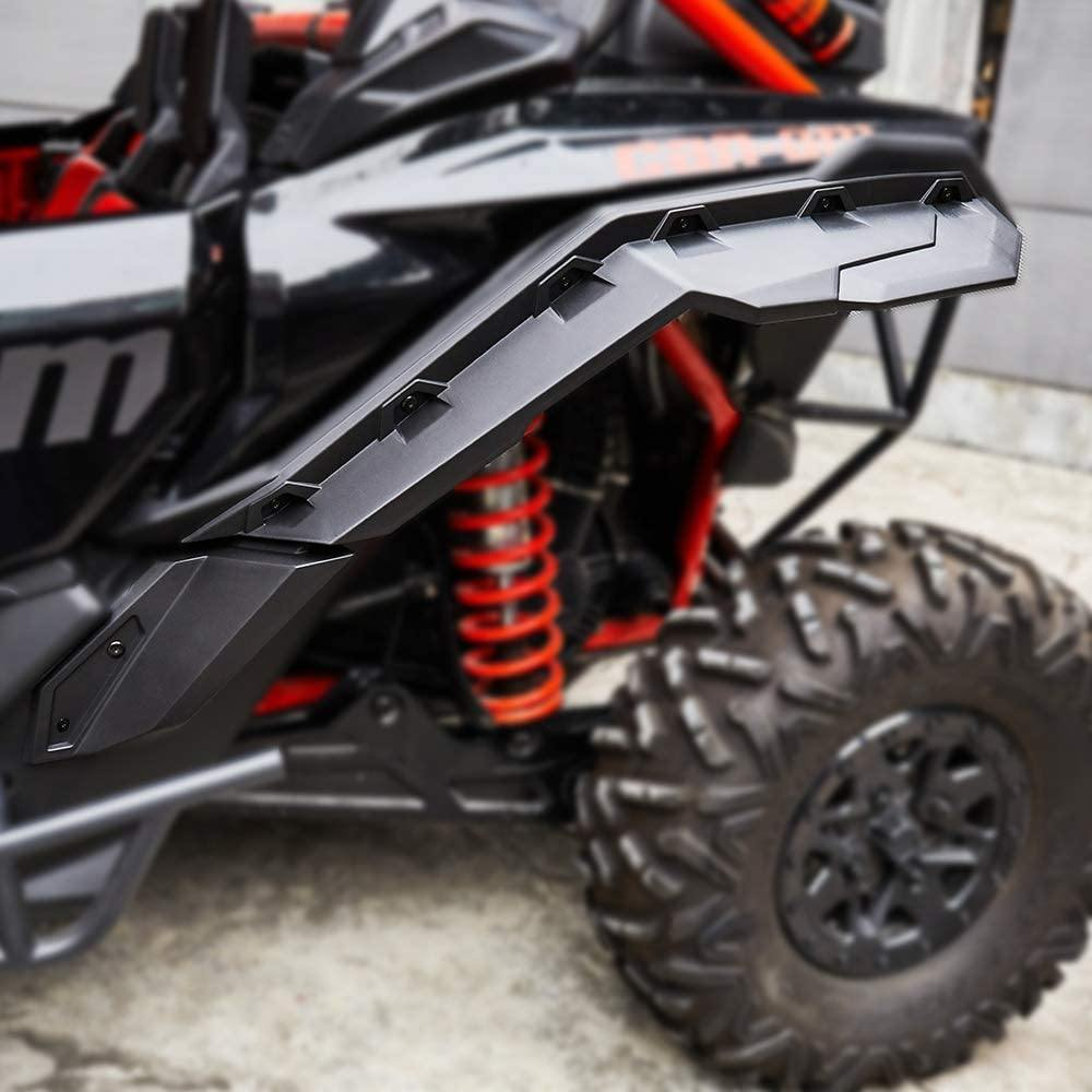 2017-2021 Can Am Maverick X3 / X3 Max Front and Rear Mud Fender Flares Guards - Kemimoto