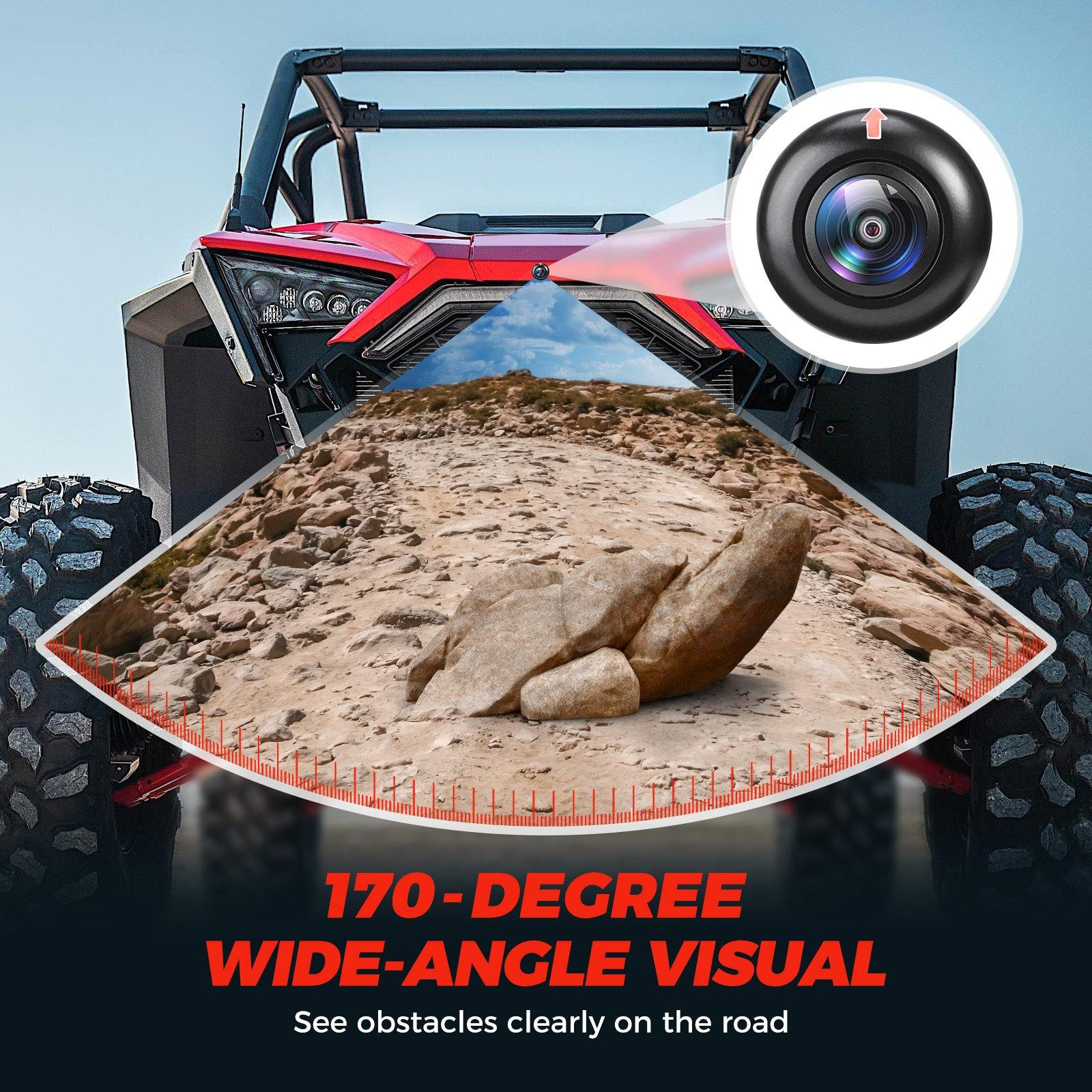 RZR Pro XP 2020 Front Camera Kit - KEMIMOTO