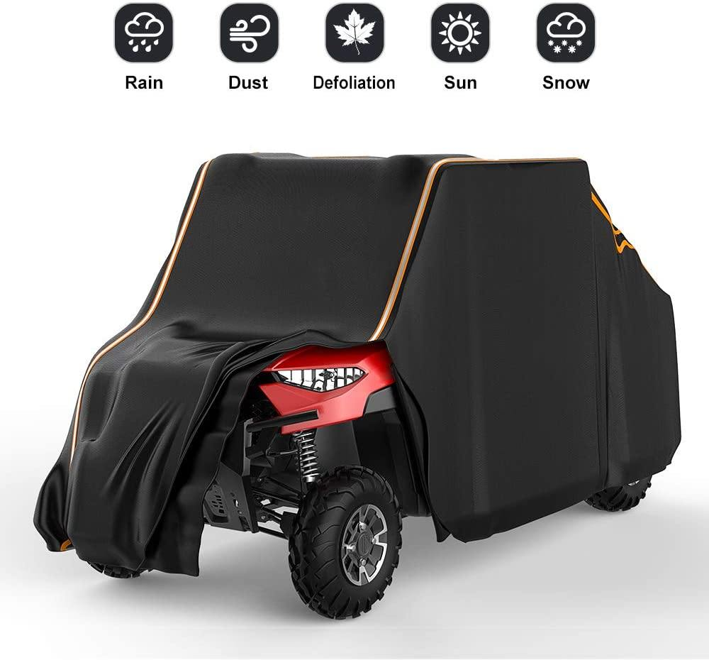 Universal UTV Waterproof 4-Seats 2-Row Seating 420D Heavy Duty Cover - KEMIMOTO