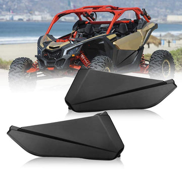 Can Am Maverick X3 Front Lower Door Panel Inserts with Metal Frame OEM # 715002903 Works (2 Doors) (Only Ship to the USA)