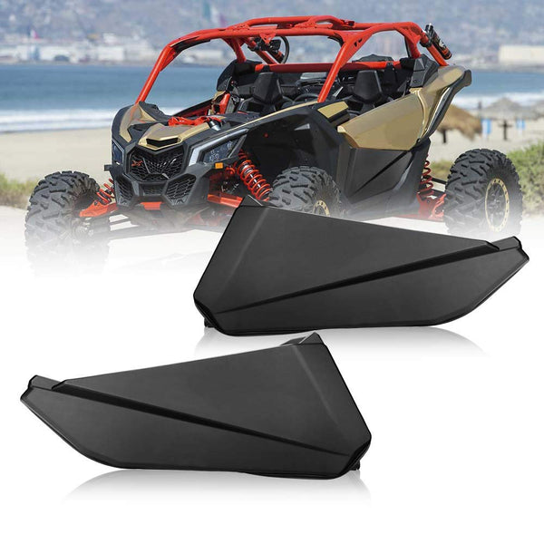 Can Am Maverick X3 Front Lower Door Panel Inserts with Metal Frame OEM # 715002903 Works (2 Doors) (Only Ship to the USA) - KEMIMOTO