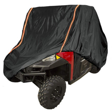 UTV Rain Sun Dust Storage Cover with Rlective Strip for Polaris Ranger RZR 570 700 800 900 Crew S 1000 XP Protect Your SxS Vehicle from Rain, Snow, Dirt, Debris and Damaging UV Rays