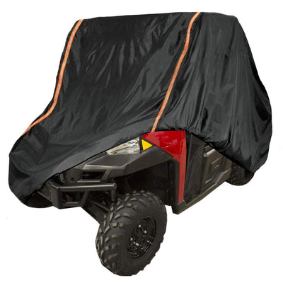 UTV Rain Sun Dust Storage Cover with Rlective Strip for Polaris Ranger RZR 570 700 800 900 Crew S 1000 XP Protect Your SxS Vehicle from Rain, Snow, Dirt, Debris and Damaging UV Rays - Kemimoto