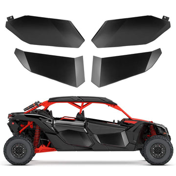 Can Am Maverick X3 Max Lower Door Panel Inserts Aluminum Half Doors Front and Rear Door Panels (4 Doors)
