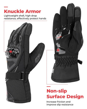 Motorcycle Winter Gloves capable with Touch Screen