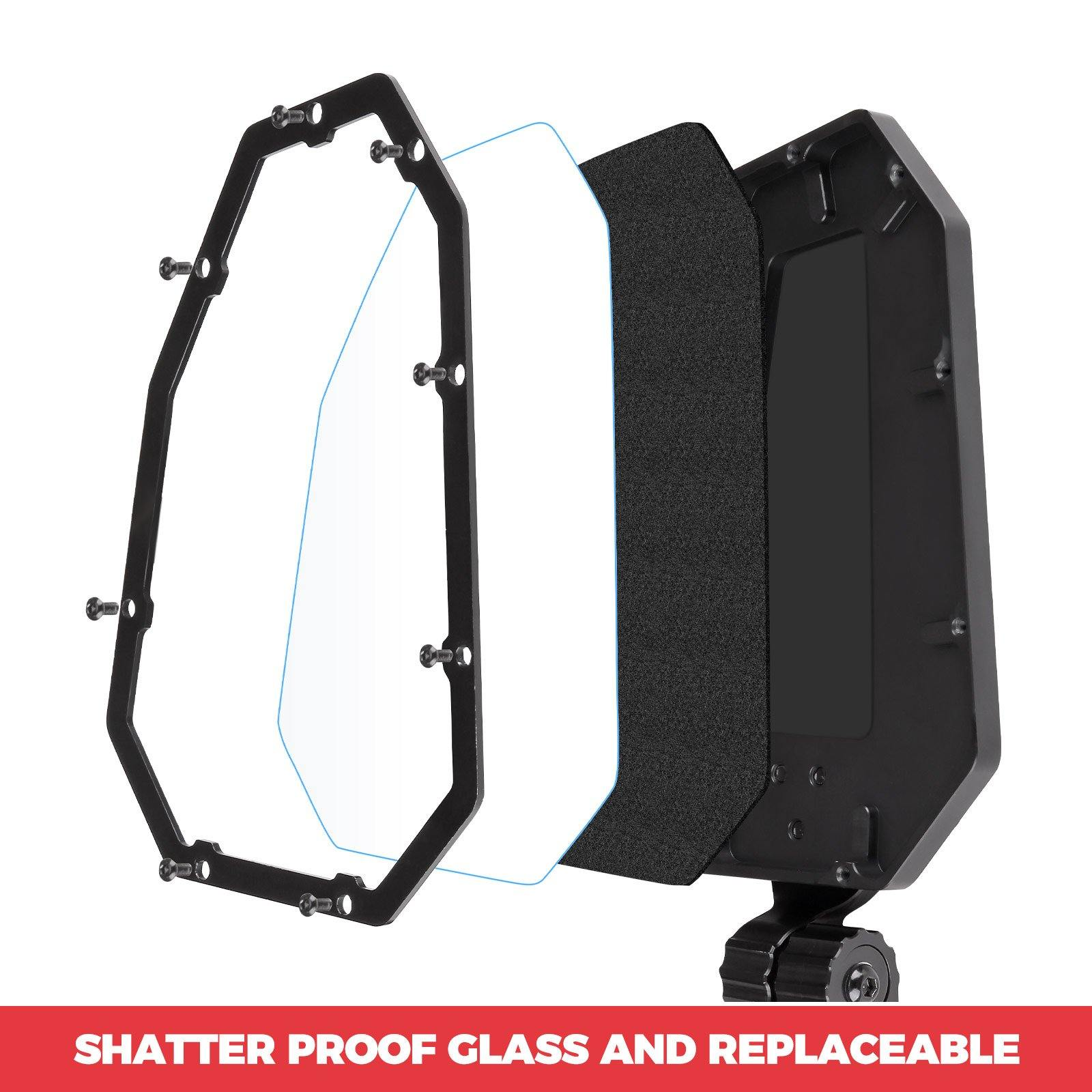 UTV Aluminum Side Mirrors with Pro-Fit Cage and Windshield - KEMIMOTO