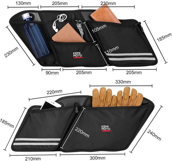 Saddle Bags Organizers, 2 Pack for 1993-2013 Harley Road Glide Electra Glide Street Glide Road King - Kemimoto