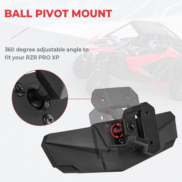 2020 Polaris RZR PRO XP / 4 Center Rear View Mirror - Kemimoto