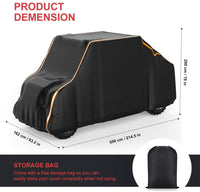 "Waterproof Large 4 Seats UTV Cover (Length 214"") with Reflective Strip Compatible with 2-Row Seating RZR 4 Ranger Crew General 4 Can Am Honda Kawasaki"