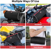 Universal Motorcycle Handlebar Saddle Bag - Kemimoto