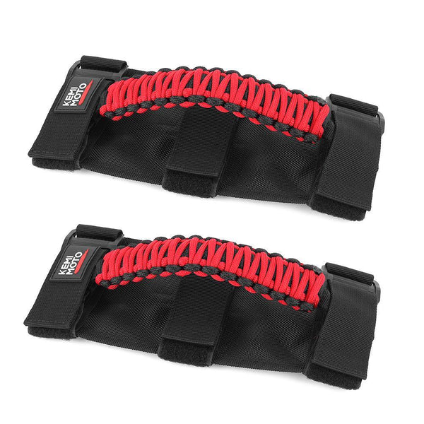 "UTV Universal Heavy Duty Grips, Grab Handle Fit 1.5-2"" Roll Bar - KEMIMOTO"