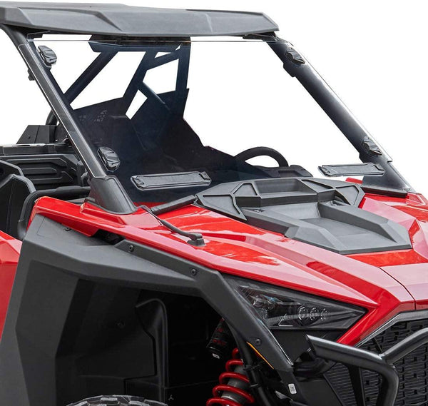 kemimoto Shock Resistance UTV Front Polycarbonate Clear Full Windshield Compatible with Polaris RZR PRO XP / 4 (2020+) - Kemimoto