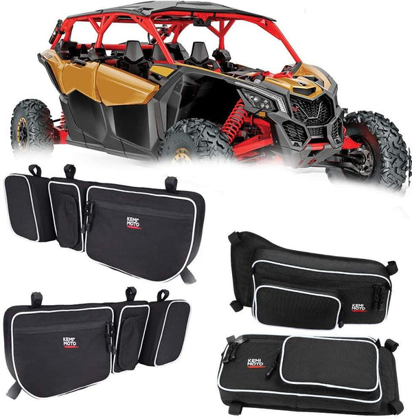 Can Am Maverick X3 / Max Turbo R Door/ Door Bags / Rear Side Mirror Combo - Kemimoto