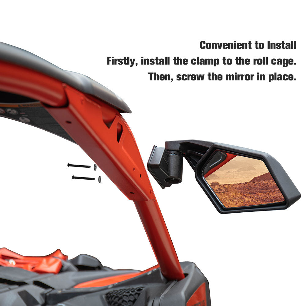 Can Am Maverick X3 Rear View Side Racing Side Mirrors - Kemimoto