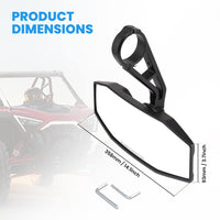 Polaris RZR 800 1000 S 900 XP 1000 RZR Rear View Center Mirror - Kemimoto