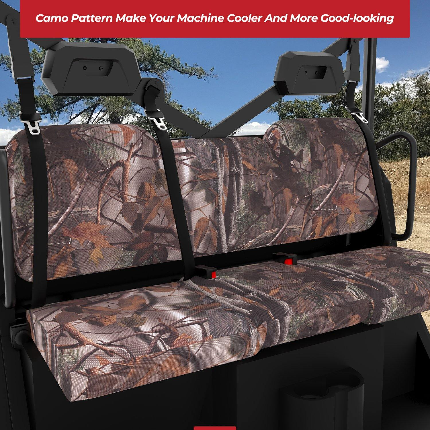 Seat Cover 3 Pcs  900D Camouflage Fabric for Polaris Ranger XP 1000 - KEMIMOTO