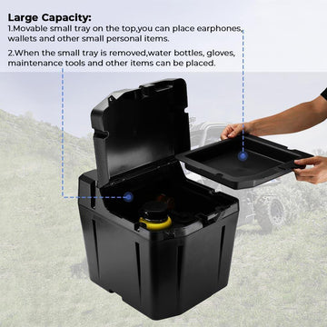 Under Seat Dry Storage Box Polaris Ranger 1000 Crew XP